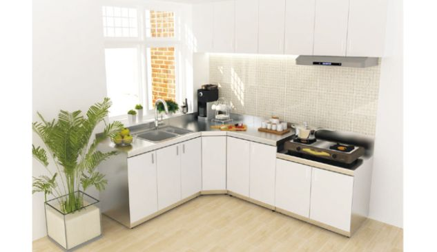 ROYAL KITCHEN CABINET KITCHEN KABINET SUDUT<br>KD CS 3 white_kabinet_2